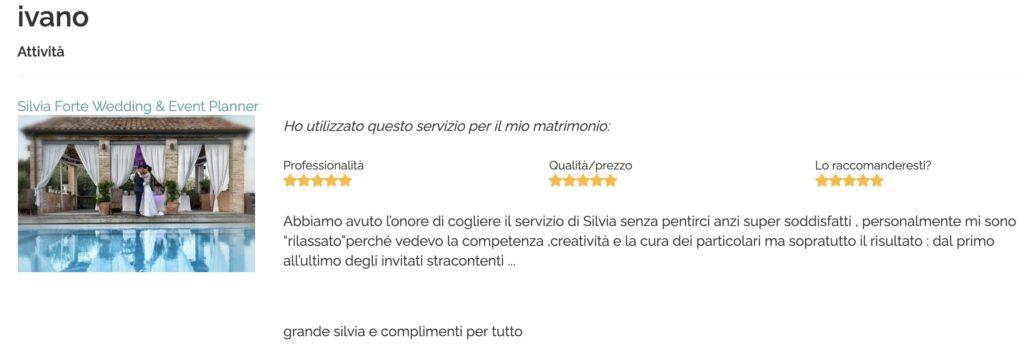 Recensione Silvia Forte Ivano