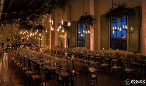 illuminazione sala matrimonio